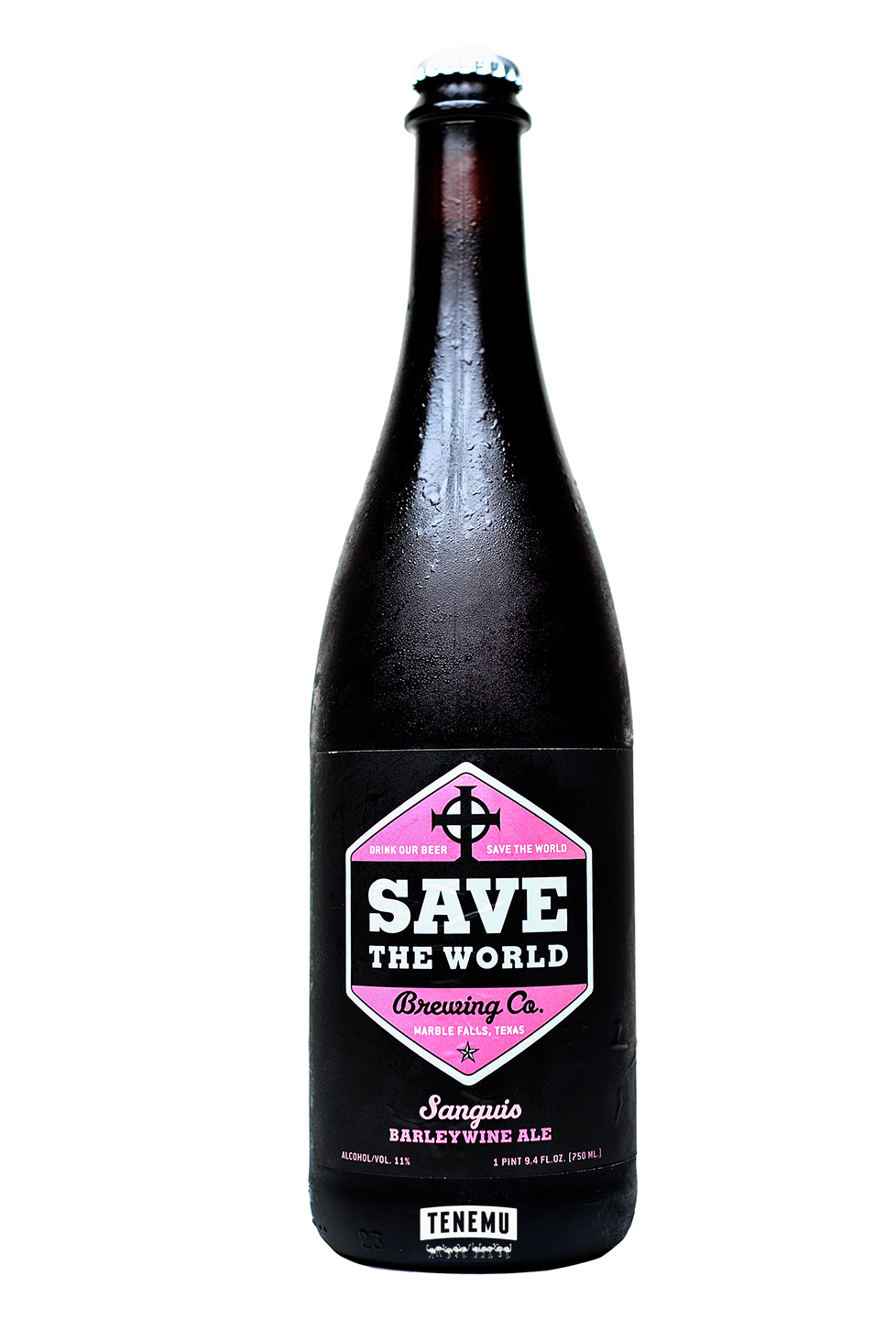 Save the World Brewing Sanguis bottle