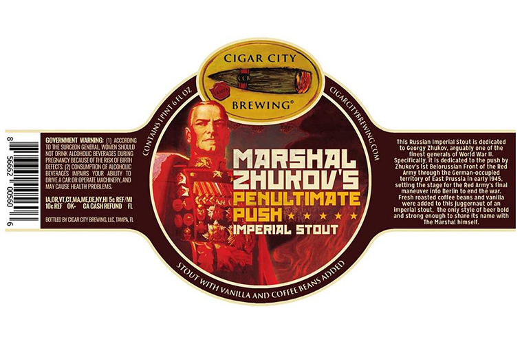 Cigar City Marshal Zhukov's Penultimate Push 2017 22-Ounce Bottle Label Feature