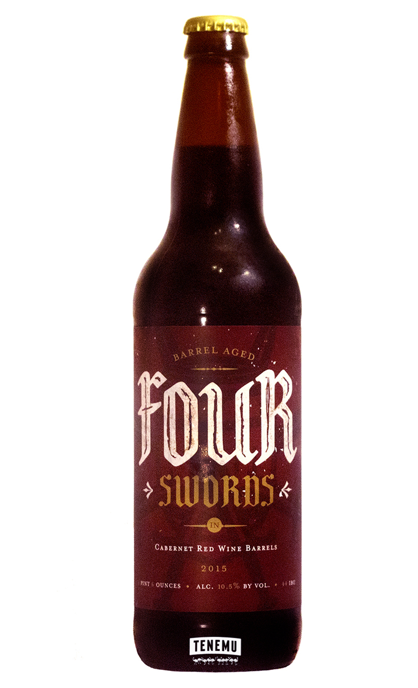 Deep Ellum Four Swords Cabernet Barrel Aged bottle
